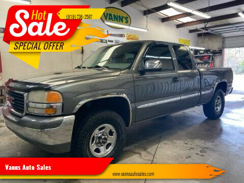 2001 GMC Sierra 1500 for sale at Vanns Auto Sales in Goldsboro NC