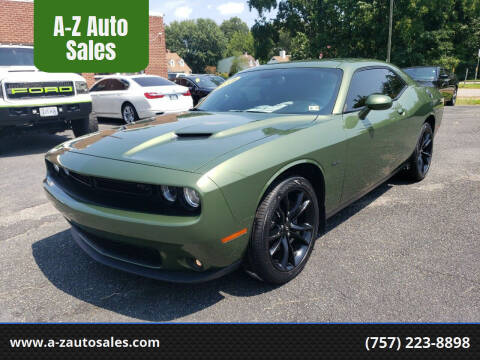 2018 Dodge Challenger for sale at A-Z Auto Sales in Newport News VA