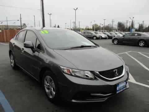 2013 Honda Civic for sale at Choice Auto & Truck in Sacramento CA