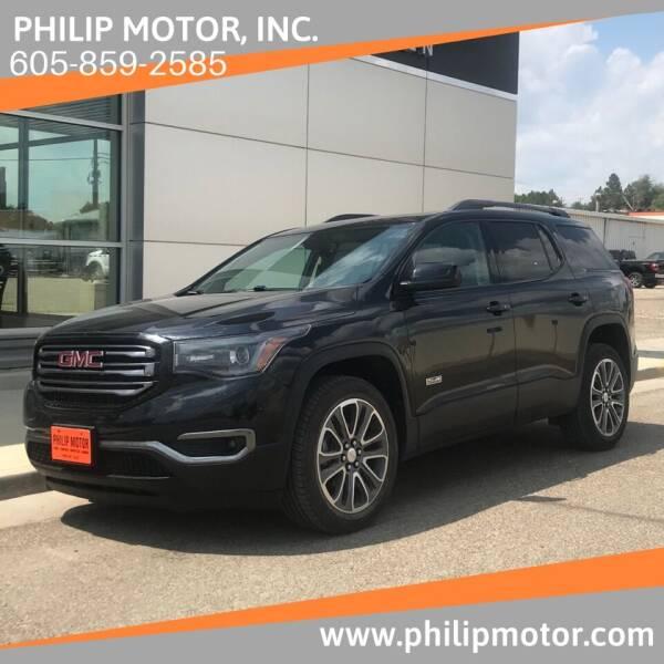 2017 GMC Acadia for sale at Philip Motor Inc in Philip SD
