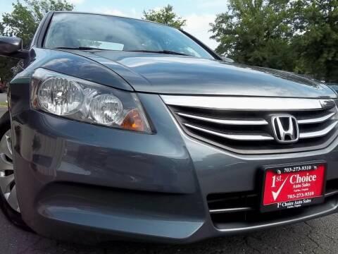 2011 Honda Accord for sale at 1st Choice Auto Sales in Fairfax VA