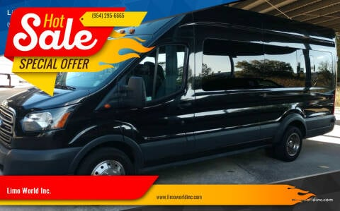 2015 Ford Transit Passenger for sale at Limo World Inc. in Seminole FL
