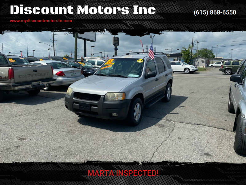2003 Ford Escape for sale at Discount Motors Inc in Madison TN