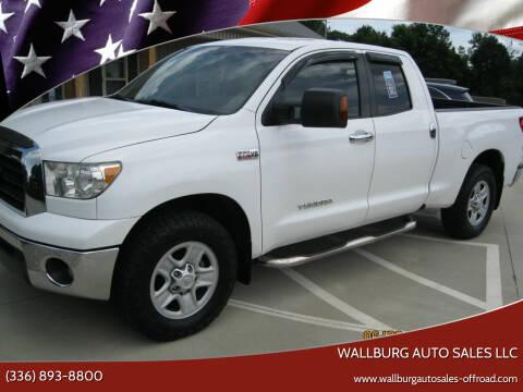 2008 Toyota Tundra for sale at WALLBURG AUTO SALES LLC in Winston Salem NC