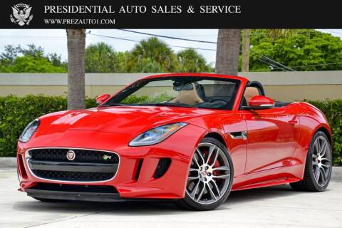 2016 Jaguar F-TYPE for sale at Presidential Auto  Sales & Service in Delray Beach FL