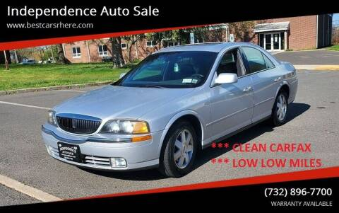2002 Lincoln LS for sale at Independence Auto Sale in Bordentown NJ