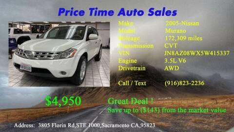 2005 Nissan Murano for sale at PRICE TIME AUTO SALES in Sacramento CA