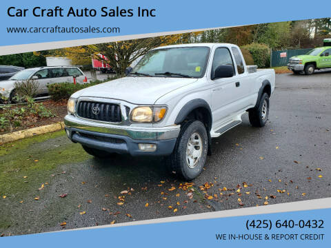 2002 Toyota Tacoma for sale at Car Craft Auto Sales Inc in Lynnwood WA