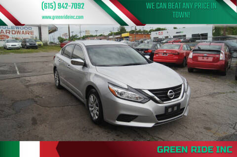 2017 Nissan Altima for sale at Green Ride Inc in Nashville TN