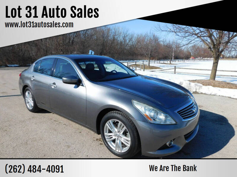 2011 Infiniti G25 Sedan for sale at Lot 31 Auto Sales in Kenosha WI