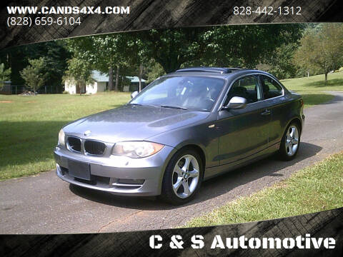 2011 BMW 1 Series for sale at C & S Automotive in Nebo NC