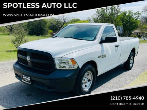 2014 RAM Ram Pickup 1500 for sale at SPOTLESS AUTO LLC in San Antonio TX