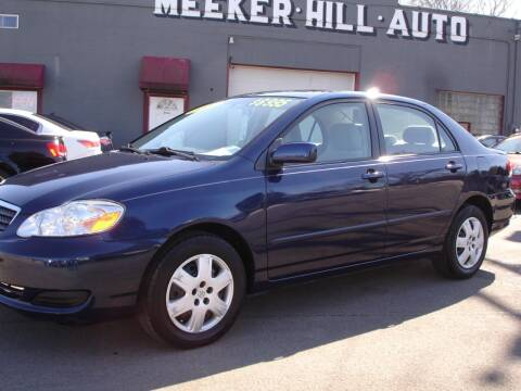 2007 Toyota Corolla for sale at Meeker Hill Auto Sales in Germantown WI