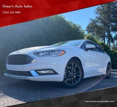2018 Ford Fusion for sale at Omar's Auto Sales in Martinez GA