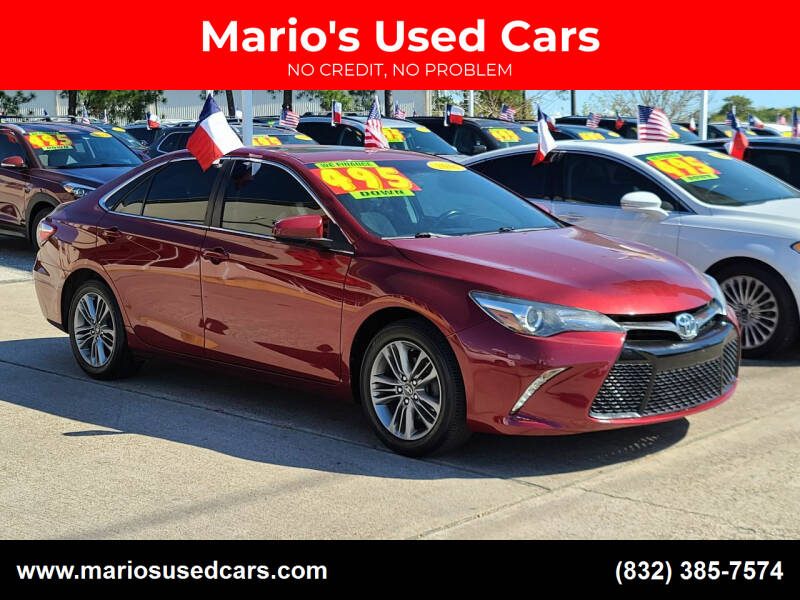 2016 Toyota Camry for sale at Mario's Used Cars in Houston TX