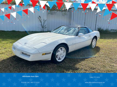 1988 Chevrolet Corvette for sale at Affordable Auto Spot in Houston TX