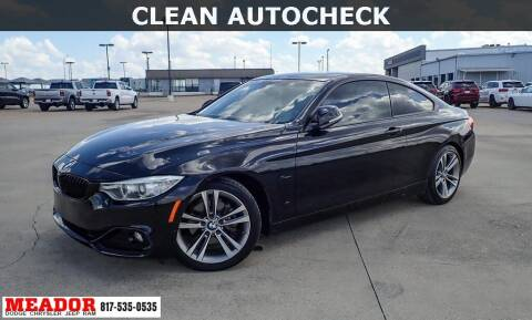 2015 BMW 4 Series for sale at Meador Dodge Chrysler Jeep RAM in Fort Worth TX