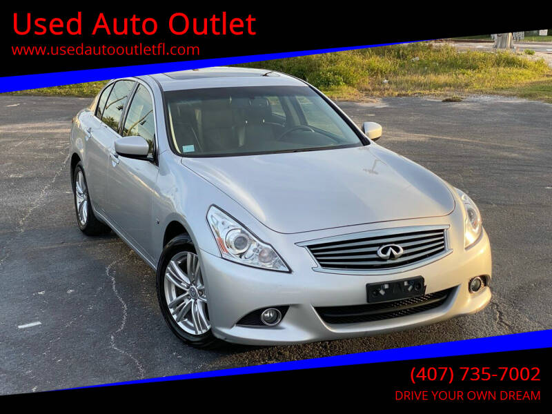 2015 Infiniti Q40 for sale at Used Auto Outlet in Orlando FL