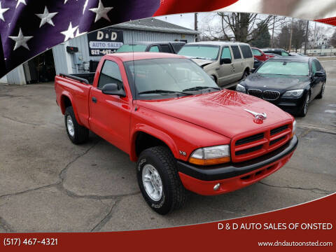 2000 Dodge Dakota for sale at D & D Auto Sales Of Onsted in Onsted   Brooklyn MI