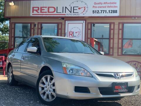 2007 Honda Accord for sale at REDLINE AUTO SALES LLC in Cedar Creek TX