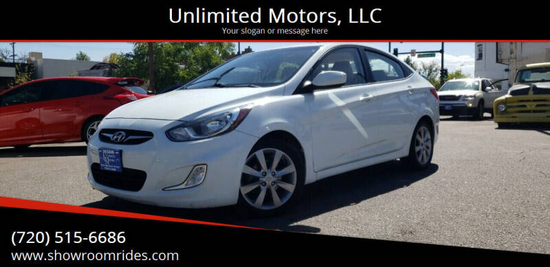 2012 Hyundai Accent for sale at Unlimited Motors, LLC in Denver CO