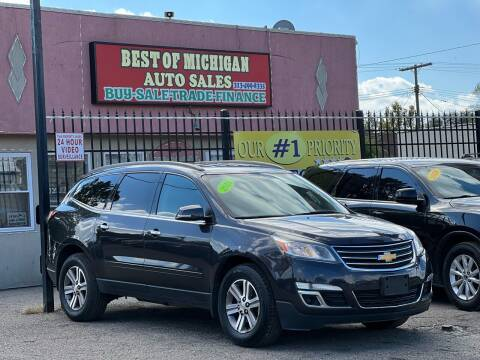2016 Chevrolet Traverse for sale at Best of Michigan Auto Sales in Detroit MI