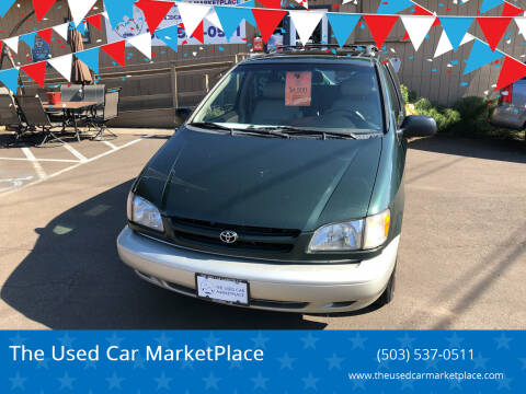 2000 Toyota Sienna for sale at The Used Car MarketPlace in Newberg OR