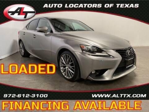 2015 Lexus IS 250 for sale at AUTO LOCATORS OF TEXAS in Plano TX