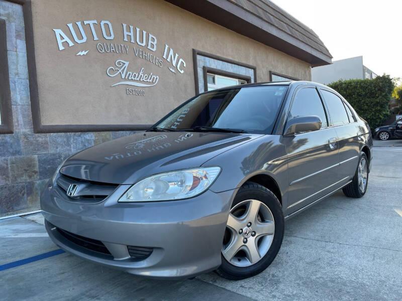 2005 Honda Civic for sale at Auto Hub, Inc. in Anaheim CA