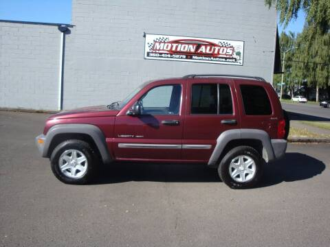 2002 Jeep Liberty for sale at Motion Autos in Longview WA