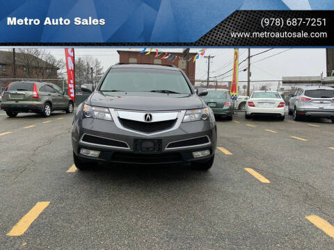 2012 Acura MDX for sale at Metro Auto Sales in Lawrence MA