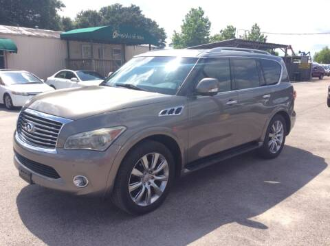 2013 Infiniti QX56 for sale at OASIS PARK & SELL in Spring TX