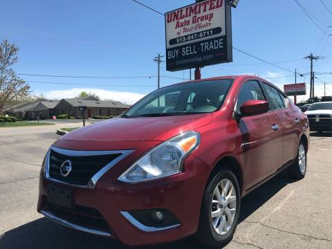 2018 Nissan Versa for sale at Unlimited Auto Group in West Chester OH