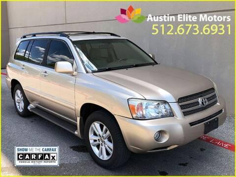 2006 Toyota Highlander Hybrid for sale at Austin Elite Motors in Austin TX
