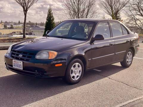 2003 Hyundai Accent for sale at Q Motors in Tacoma WA