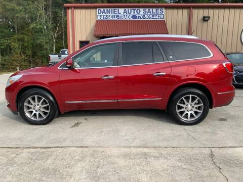 2013 Buick Enclave for sale at Daniel Used Auto Sales in Dallas GA