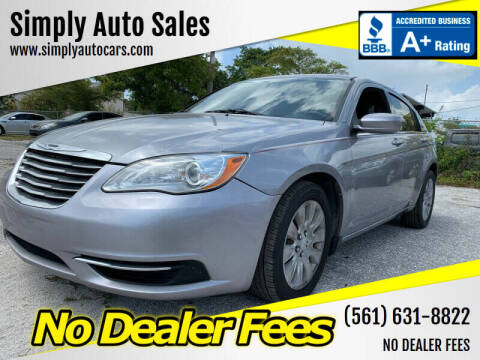 2013 Chrysler 200 for sale at Simply Auto Sales in Palm Beach Gardens FL