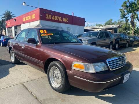 2001 Ford Crown Victoria for sale at 3K Auto in Escondido CA