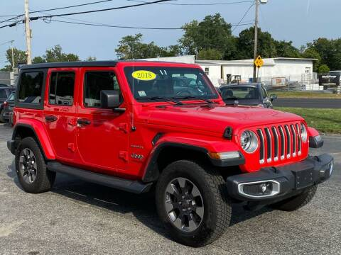 2018 Jeep Wrangler Unlimited for sale at MetroWest Auto Sales in Worcester MA