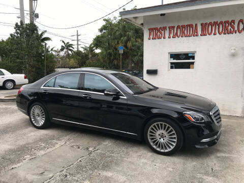 2018 Mercedes-Benz S-Class for sale at FIRST FLORIDA MOTOR SPORTS in Pompano Beach FL