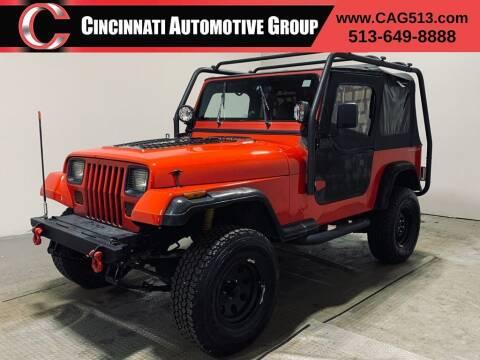 1994 Jeep Wrangler for sale at Cincinnati Automotive Group in Lebanon OH
