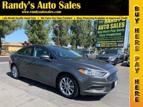 2017 Ford Fusion for sale at Randy's Auto Sales in Ontario CA