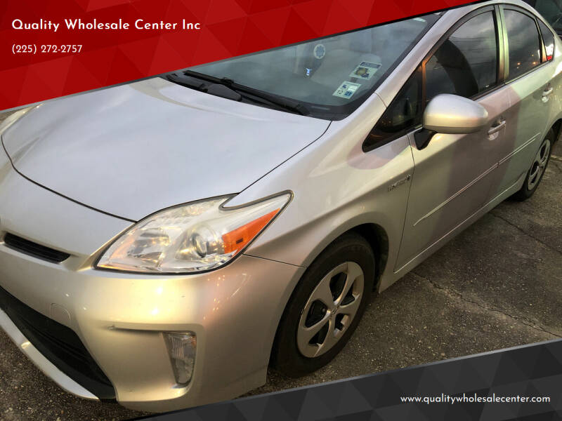 2013 Toyota Prius for sale at Quality Wholesale Center Inc in Baton Rouge LA