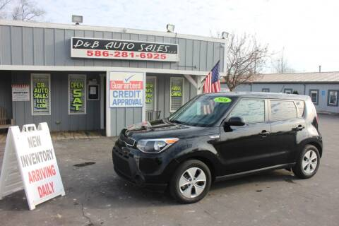 2016 Kia Soul for sale at D & B Auto Sales LLC in Washington Township MI