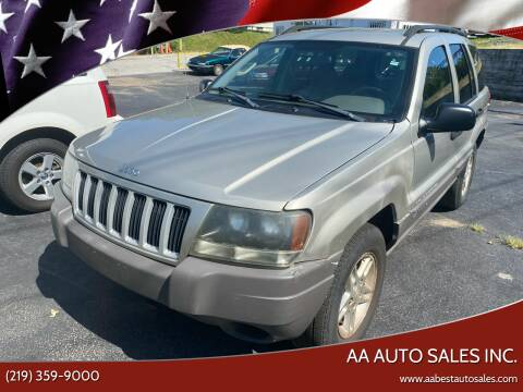 2004 Jeep Grand Cherokee for sale at AA Auto Sales Inc. in Gary IN