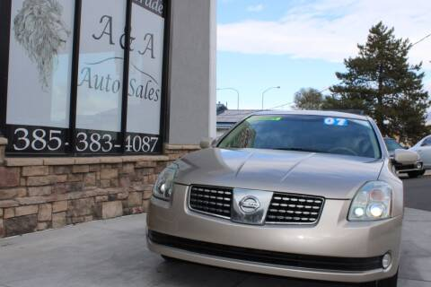 2006 Nissan Maxima for sale at A&A Auto Sales in Orem UT