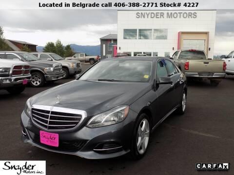 2014 Mercedes-Benz E-Class for sale at Snyder Motors Inc in Bozeman MT