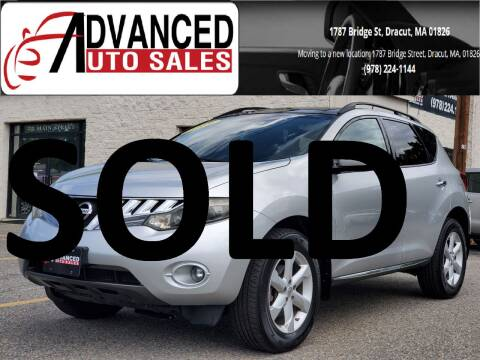 2009 Nissan Murano for sale at Advanced Auto Sales in Dracut MA