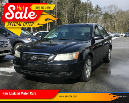 2008 Hyundai Sonata for sale at New England Motor Cars in Springfield MA