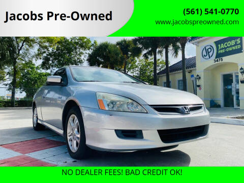 2007 Honda Accord for sale at Jacobs Pre-Owned in Lake Worth FL